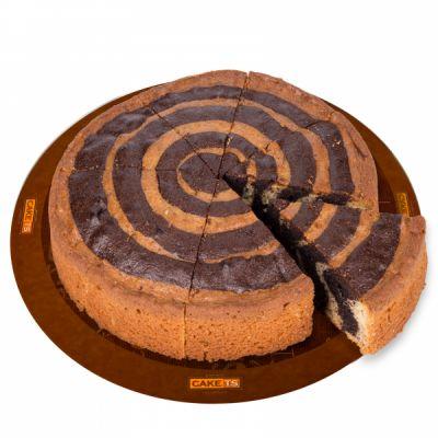 کیک دورنگ کافی شاپی