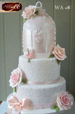 کیک سفارشی عروسی  WA04