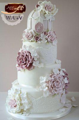 کیک سفارشی عروسی  WA07