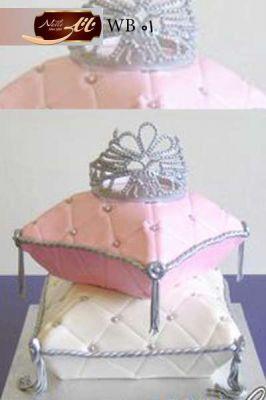 کیک سفارشی عروسی  WB01