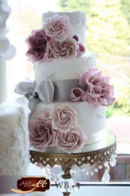 کیک عروسی رز گل