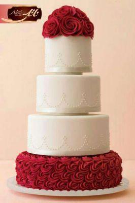 کیک عروسی رد رز 2