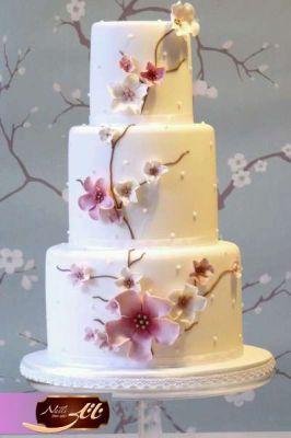 کیک عروسی بهار