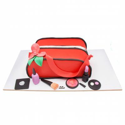 کیک کیف آرایش قرمز