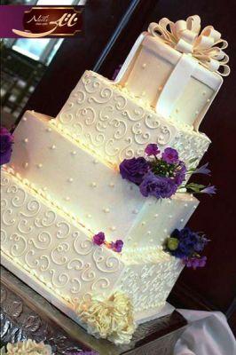 کیک سفارشی عروسی  WE26