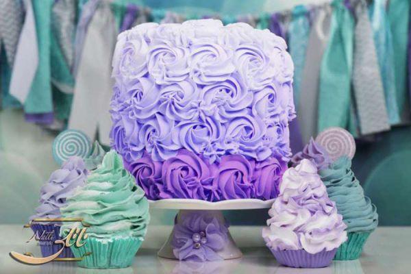 کیک نامزدی رز بنفش 2