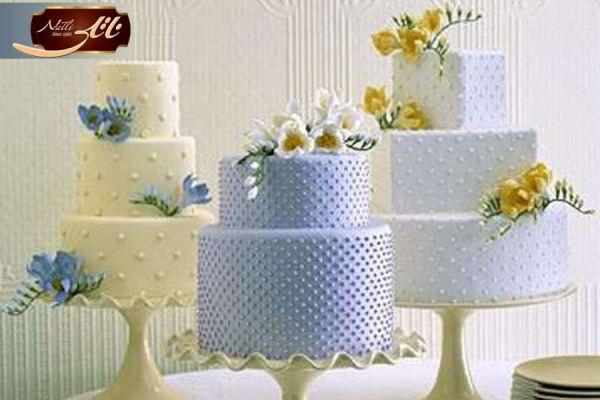 کیک عروسی گل مروارید 2