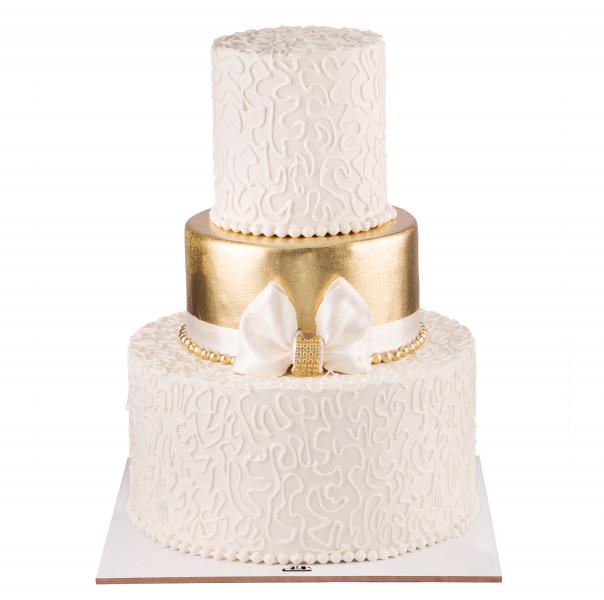 کیک عروسی زر پاپیون