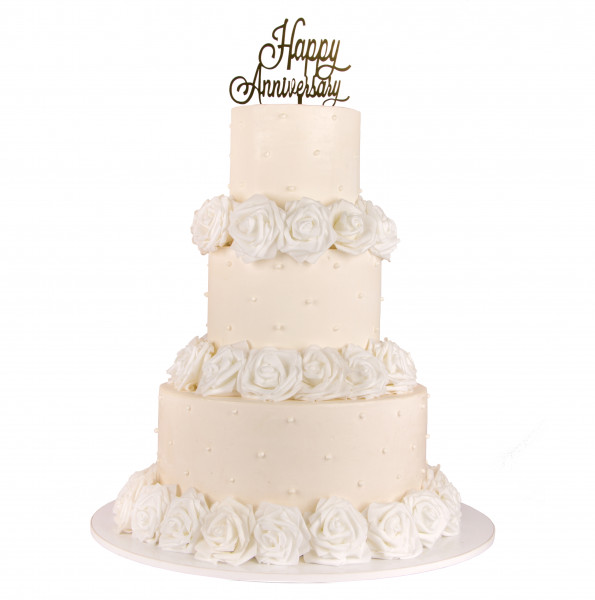 کیک عروسی سپید گل 7