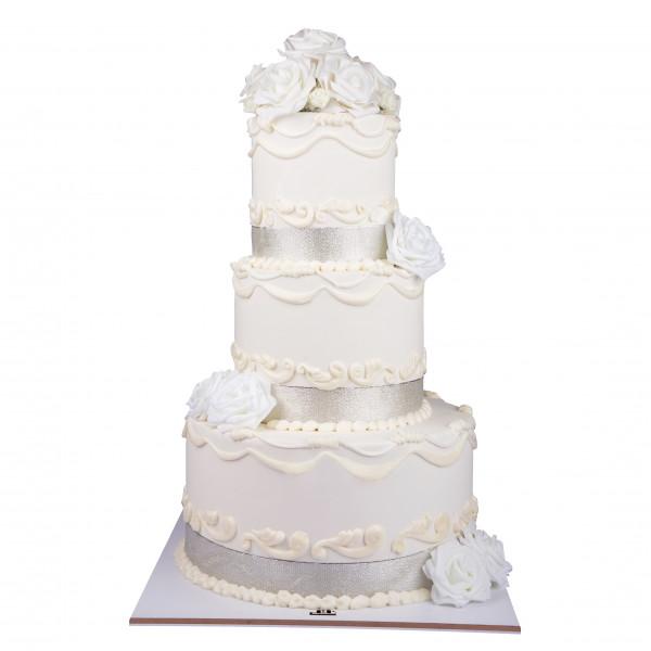 کیک سفارشی عروسی  WE56