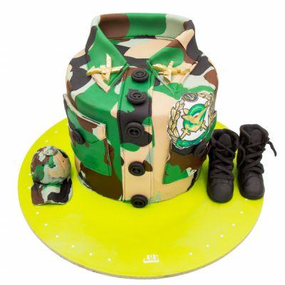 کیک لباس سربازی چریک