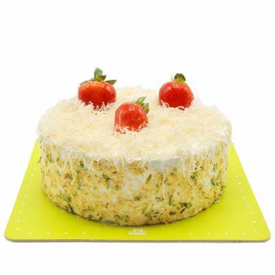 کیک وانیلی آشفته بادام زمینی