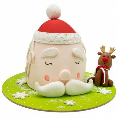 کیک بابانوئل و گوزن