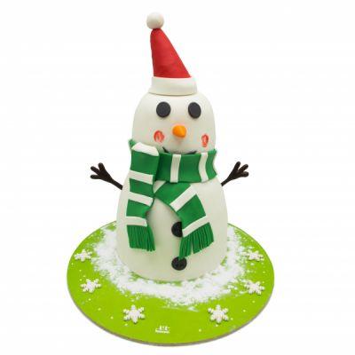 کیک آدم برفی