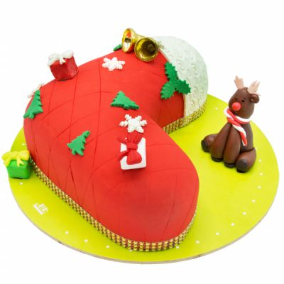 کیک جوراب بابانوئل