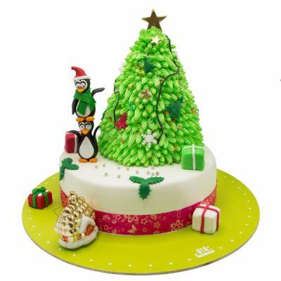 کیک درخت و پنگوئن ها  chris17