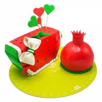 کیک هندوانه و انار  yalda13