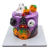 کیک هالووینی دخترانه شب ترسناک