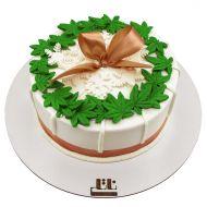 کیک برگ سبز