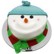 کیک آدم برفی کلاهدار