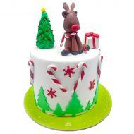 کیک کریسمس و گوزن شاخدار