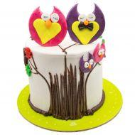 کیک جغد عاشق