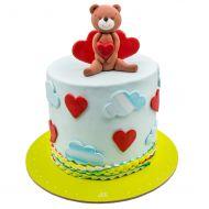 کیک خرس قلبی