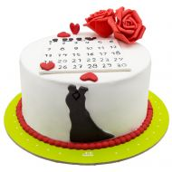 کیک تقویم عشق