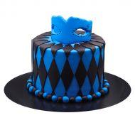 کیک نقاب آبی