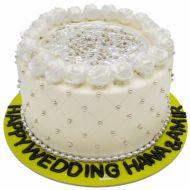 کیک نامزدی رز سفید