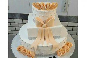 کیک عروسی رز نارنجی
