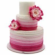 کیک عروسی گل کاملیا