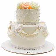 کیک عروسی سپید