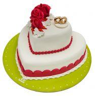 کیک حلقه عشق