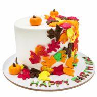 کیک پاییز رنگارنگ