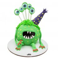 کیک هیولای سبز