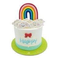 کیک تولد دخترانه رنگین کمان 3