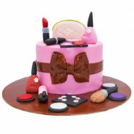 کیک تولد دخترانه  لوازم آرایشی 2