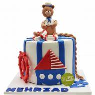 کیک تولد پسرانه قایق 3