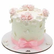 کیک رز صورتی