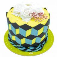 کیک تولد دخترانه روبیک رز
