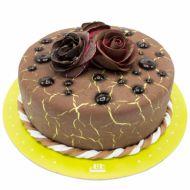 کیک تولد رز شکلاتی 2