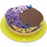 کیک تولد دخترانه شکلاتی اطلس