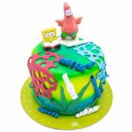 کیک تولد باب اسفنجی و پاتریک