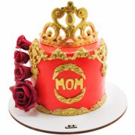 کیک تاج رز طلا