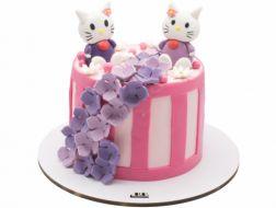 کیک تولد دخترانه کیتی بنفش
