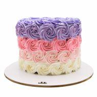 کیک تولد خامه ای رز وانیل 3