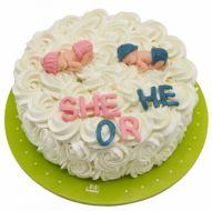 کیک تعیین  جنسیت خامه ای