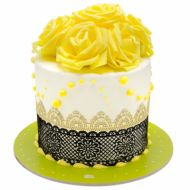 کیک تولد رز زرد