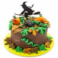 کیک هالووین جادوگر پاییزی